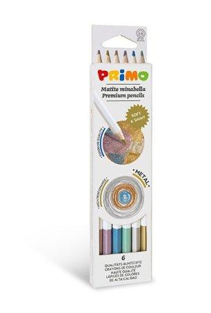 PRIMO MINABELLA METAL Pastelky - 6 barev