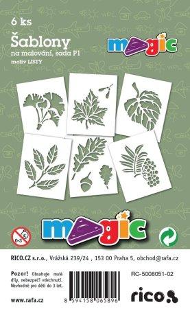 PRIMO MAGIC Papírové šablony - sada P1 - LISTY
