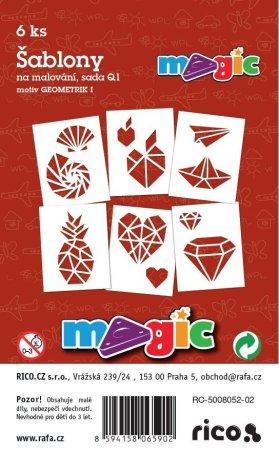 PRIMO MAGIC Papírové šablony - sada Q1 - GEOMETRIK I