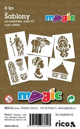 PRIMO MAGIC Papírové šablony - sada U1 - AFRIKA