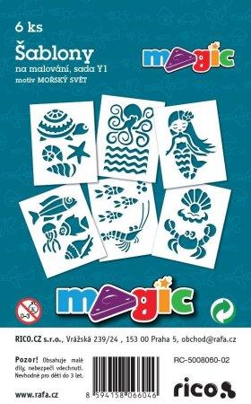 PRIMO MAGIC Papírové šablony - sada Y1 - MOŘSKÝ SVĚT