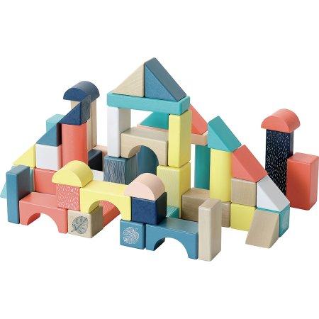 Vilac Dřevěné kostky barevné Canopée - 54 ks