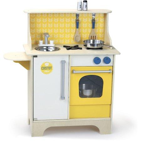 Vilac Dřevěná kuchyňka Cuistot - žlutá