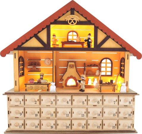 Small Foot Dřevěný adventní kalendář - Vánoční pekárna