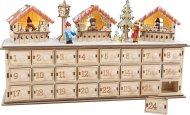 Small Foot Dřevěný adventní kalendář - Vánoční trhy