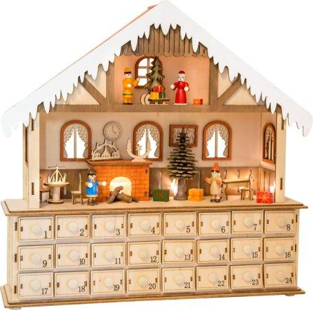 Small Foot Dřevěný adventní kalendář - Kouzelný vánoční dům