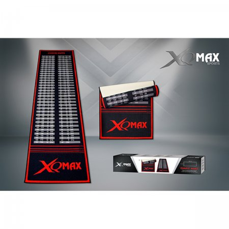 XQMax Darts Dart Mat Checkout - Koberec k terči - black-red