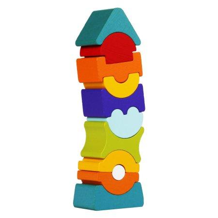 CUBIKA Balanční věž IX - dřevěná skládačka - 11 dílů