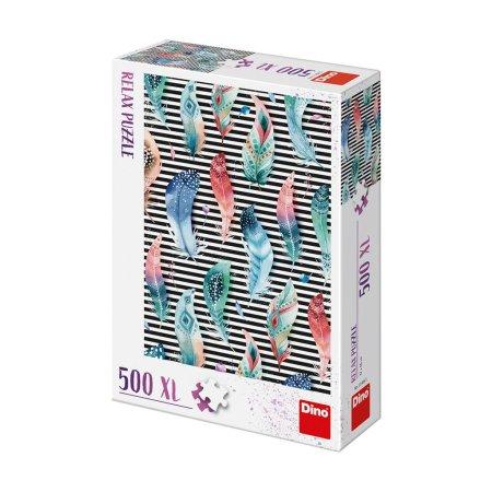 Dino Puzzle relax - Pírka - 500 dílků XL