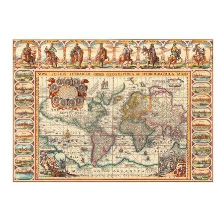 Dino Puzzle - Historická mapa světa - 2000 dílků