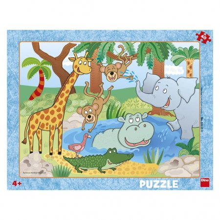 Dino Puzzle deskové - Zvířátka v ZOO - 40 dílků