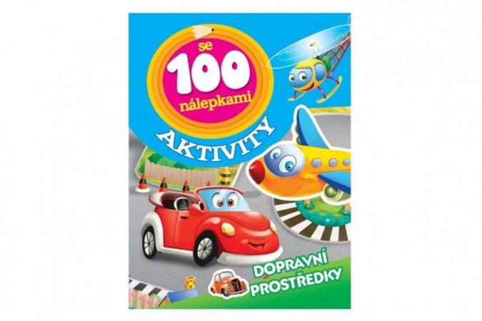 Teddies Aktivity- Dopravní prostředky se 100 samolepkami - CZ verze