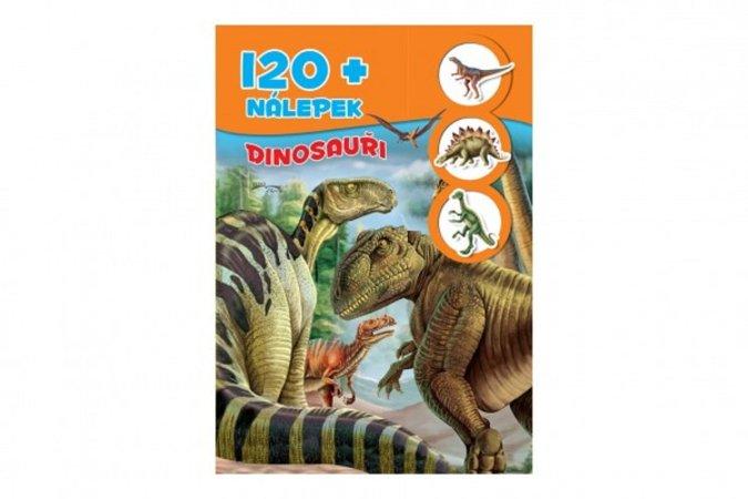 Teddies Knížka se samolepkami 120 + Dinosauři