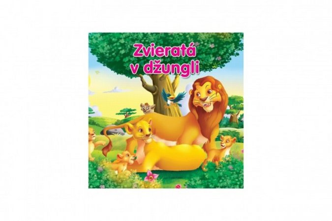 Teddies Kniha - Zvieratá v džungli - SK verzia