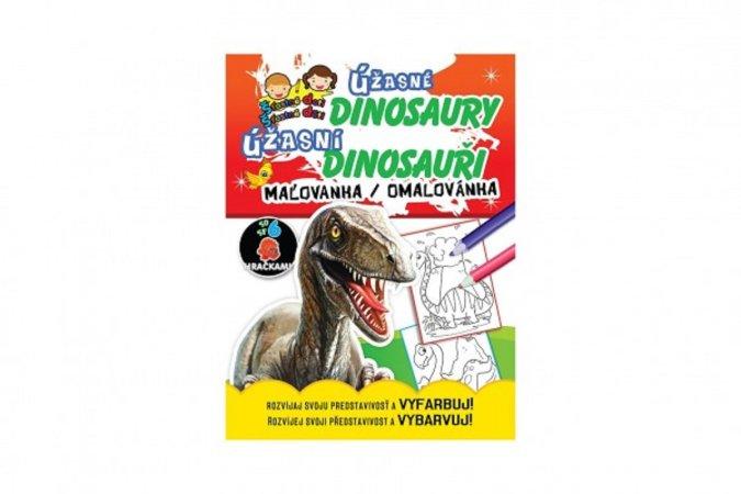 Teddies Omalovánky/Maľovanky - Úžasní dinosauři/Úžasné dinosaury