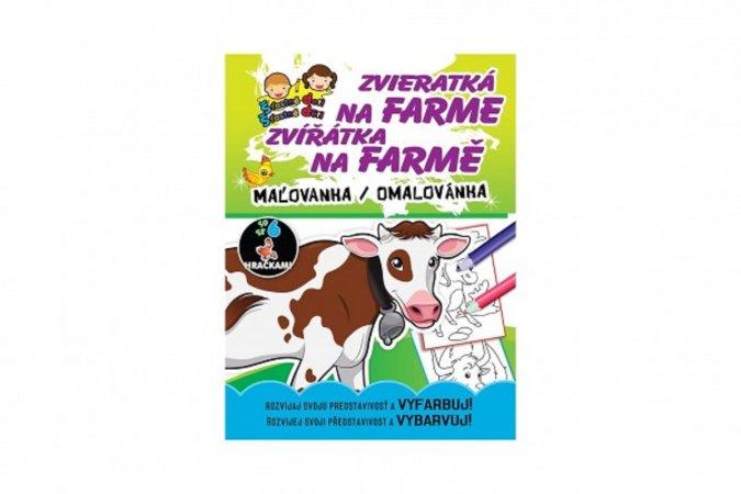 Teddies Omalovánky/Maľovanky - Na farmě/Na farme