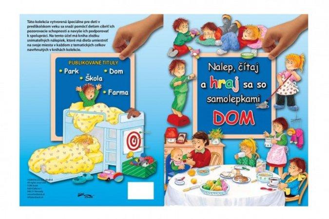 Teddies Kniha Nalep, hraj sa - Dom so samolepkami - SK verzia