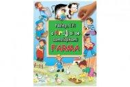 Teddies Kniha Nalep, čti a hraj si se samolepkami - Farma - CZ verze