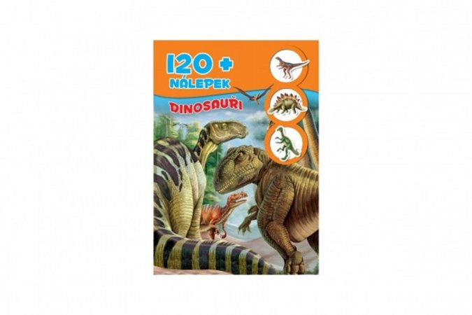 Teddies Kniha so samolepkami 120 + Dinosaury - SK verzia