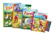 Teddies Omalovánky+aktivity/Maľovanky+aktivity - Na farmě/Na farme - 4 ks + pastelky/ceruzky