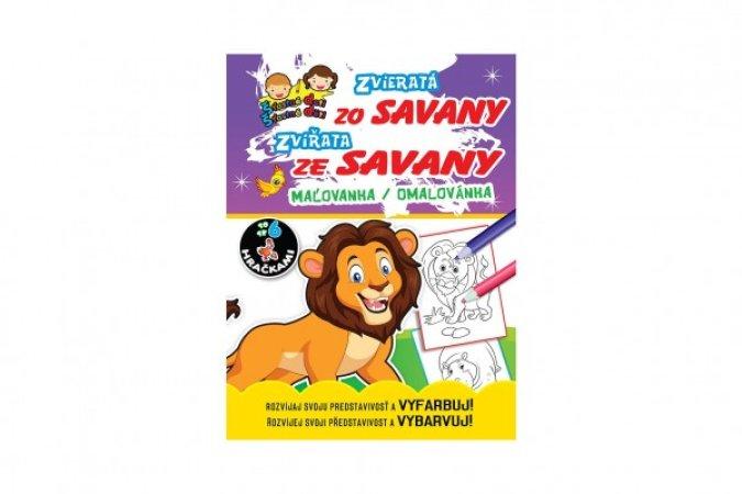 Teddies Omalovánky/Maľovanka - Zvířátka ze Savany/Zvieratá zo savany - SK + CZ verze