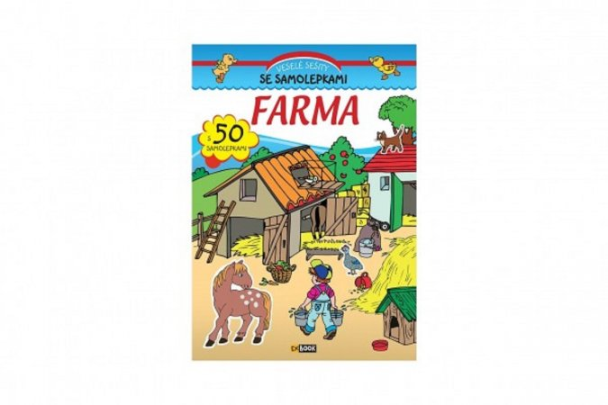Teddies Veselé sešity se samolepkami - Farma - CZ verze