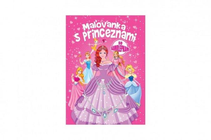 Teddies Maľovanka s princeznami so samolepkami - SK verzia