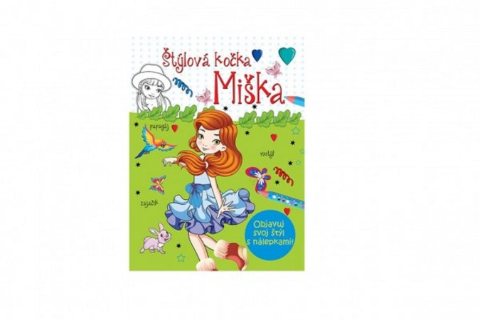 Teddies Maľovanky - Štýlová kočka Miška - SK verzia
