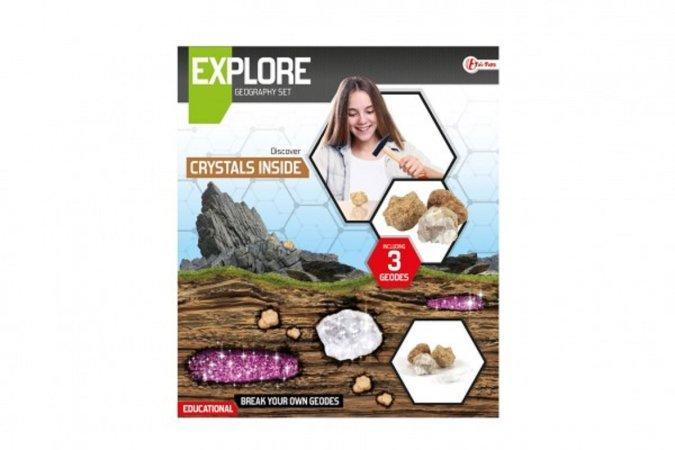Teddies Sada geodů/kamenů - vědecká hra s lupou