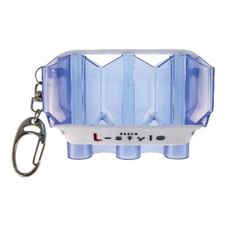 L Style Pouzdro na šipky Krystal Flight Case - clear blue