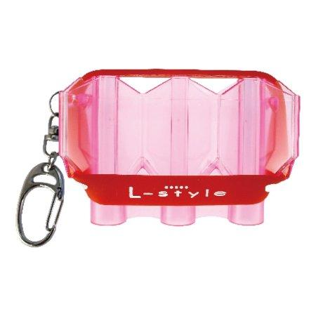 L Style Pouzdro na šipky Krystal Flight Case - clear pink