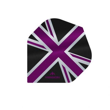 Mission Letky Alliance Union Jack - Black / Purple F3085