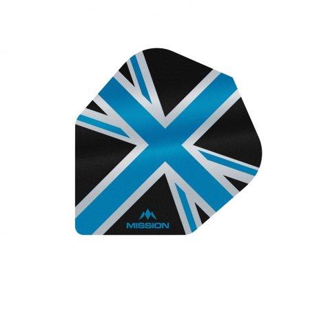 Mission Letky Alliance Union Jack No6 - Black / Blue F3097