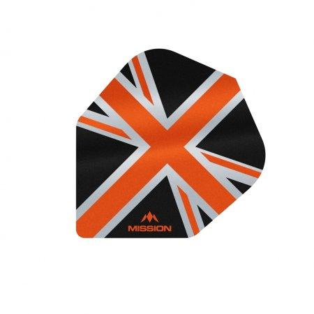 Mission Letky Alliance Union Jack No6 - Black / Orange F3100