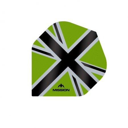 Mission Letky Alliance-X Union Jack - Green / Black F3107