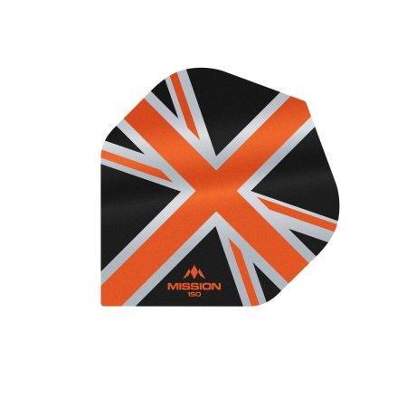 Mission Letky Alliance Union Jack - 150 - Black / Orange F3132