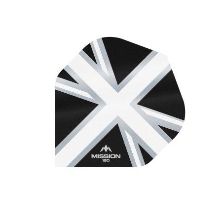Mission Letky Alliance Union Jack - 150 - Black / White F3136