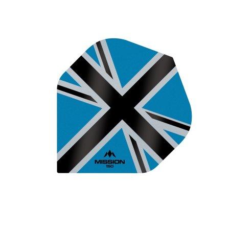 Mission Letky Alliance-X Union Jack - 150 - Blue / Black F3142