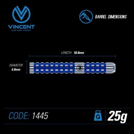 Winmau Šipky Steel Vincent Van Der Voort - 25g