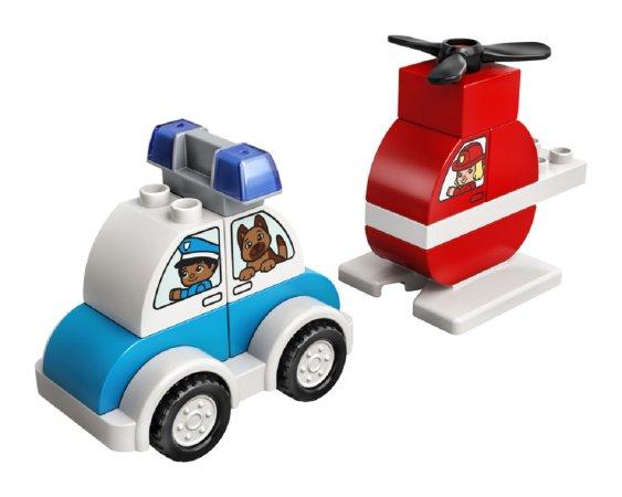 LEGO Duplo 10957 - Hasičský vrtulník a policejní auto