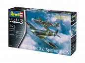 Revell ModelSet - Plastikový model letadla Bf109G-10 & Spitfire Mk.V