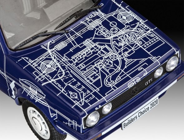 """Revell ModelSet - Plastikový model auta VW Golf Gti """"Builders Choice"""""""