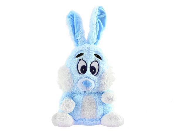 Mikro trading Zajíc plyšový - 48 cm - modrá