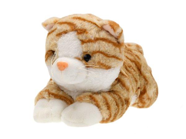 Mikro trading Kočka plyšová - 30 cm - hnědá
