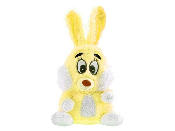 Mikro trading Zajíc plyšový - 48 cm - žlutá