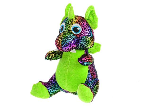 Mikro trading Star Sparkle - Drak plyšový - 29 cm - zelená