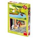 Dino Puzzle - Holky z pohádky - 2 x 48 dílků