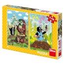 Dino Puzzle - Krtek na mýtině - 2 x 48 dílků