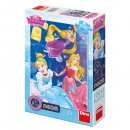 Dino Puzzle svítící - Disney princezny - oslava - 100 dílků XL