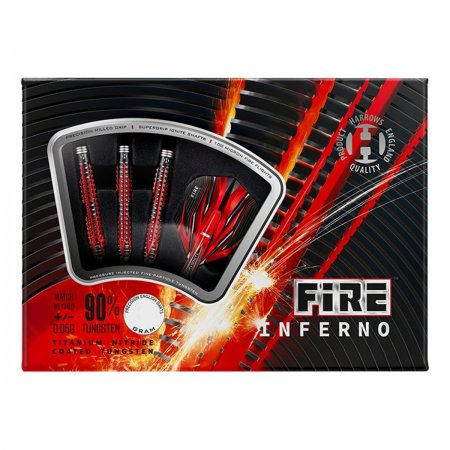 Harrows Šipky Steel Fire Inferno - 24g